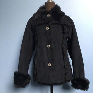 831a553b72ea Nils Faux Suede & Fur Button Jacket